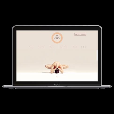 Website for Yoga Studio