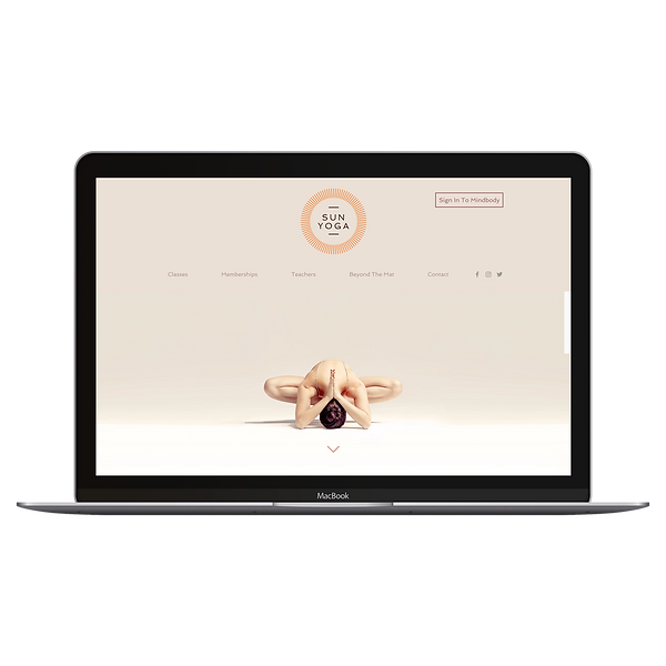Web Design for Yoga Studio