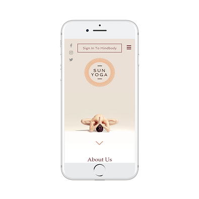 Mobile Ready Yoga Studio Website