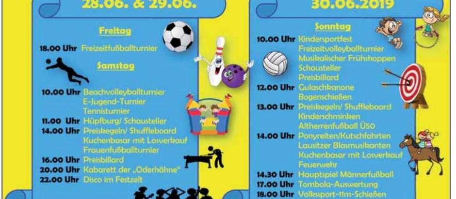 Rückblick auf das Leuthener Breitensportfest 2019...