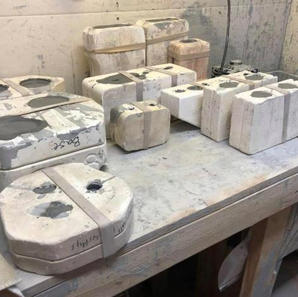 These are Molds which we fill with a product called slip to make our creations