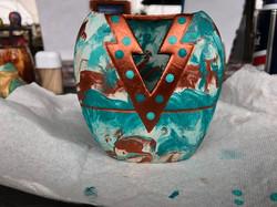 wax wrap a vase