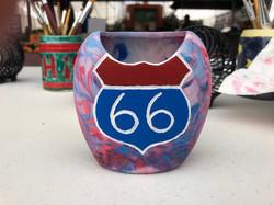Route 66 vase