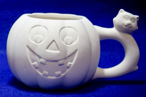 Pumpkin Mug with Cat Handle - Ordered piece (May not be in stock)