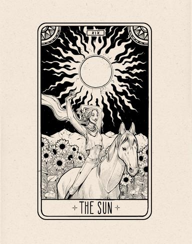 The Sun Tarot Card Design