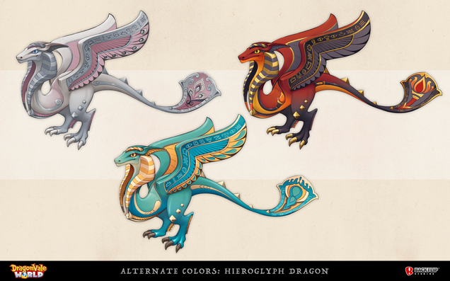 Alternate Colors for the Hieroglyph Dragon