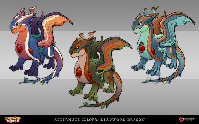 Alternate Colors for the Deadwood Dragon