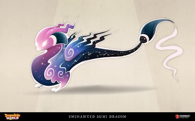 Enchanted Sumi Dragon