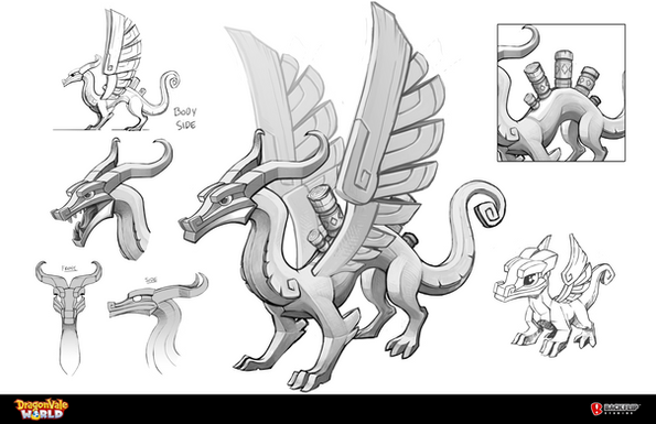 Grayscale Sketches & Baby Dragon