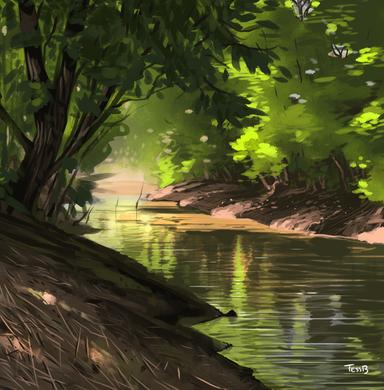 Creek Landscape Study