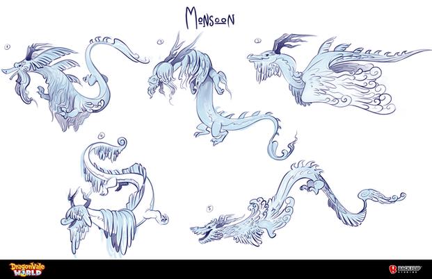 Monsoon Dragon Concepts