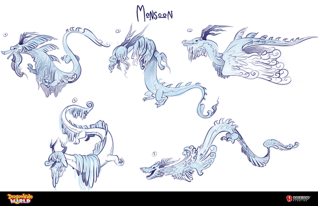 Monsoon Dragon Concepts