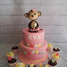 Eva Turns 1 - Cheeky Monkey cake