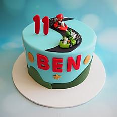 Mario Kart themed birthday cake