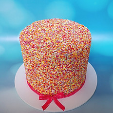 Sunset Ombre Sprinkle Cake