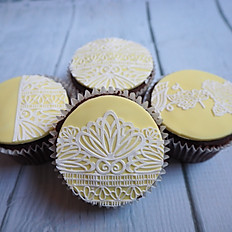 Yellow & Lace Cupcakes