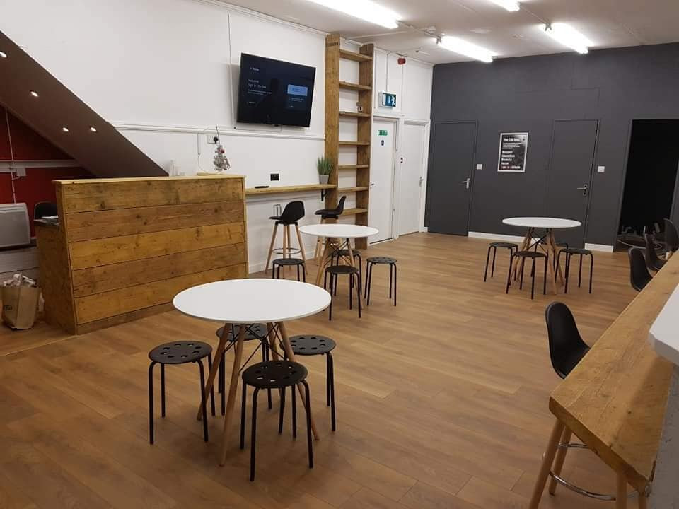 Seating and cafe area