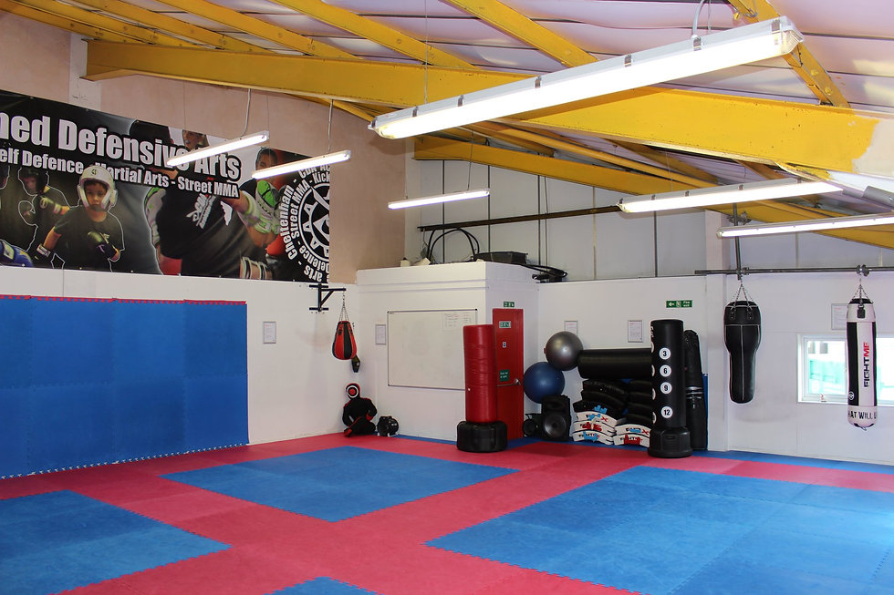 Image ofthe upstairs training space, ideal for yoga, pilates etc..