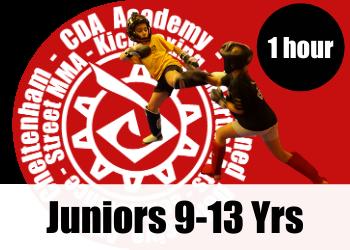 Juniors martial arts and kickboxing classes fo 9yrs upwards in cheltenham