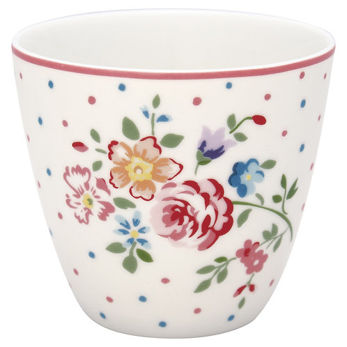 GreenGate - Latte Cup - Belle White