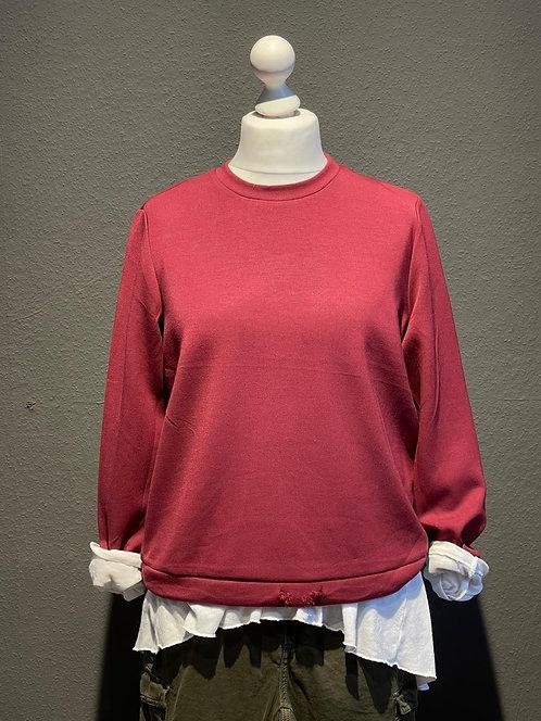 Suza - Kuscheliges Sweatshirt in Bordeaux