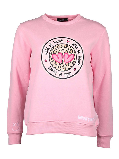 """Zwillingsherz - Sweater """"Wild at Heart"""" - Rosa"""