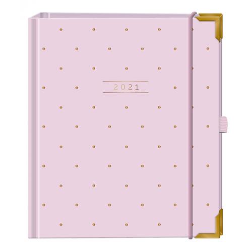 "Grafik Werkstatt Terminplaner A5 Premium ""Rosé"" - Hardcover"
