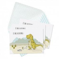 """6er-Set Einladungskarten """"Dinos"""" von Krima & Isa"""