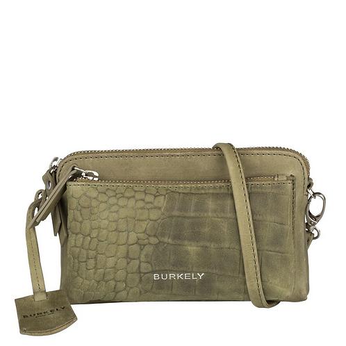 "Crossbag ""Croco Cody Minibag"" von Burkely - Leder / Farbe Grün"
