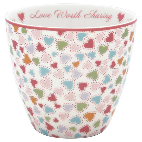 GreenGate - Latte Cup - Love Pastel Mix