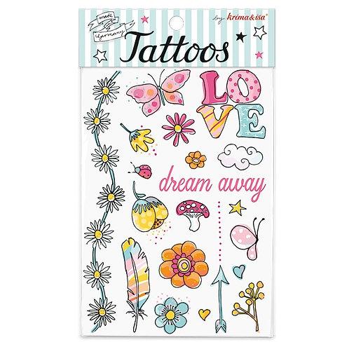 """Tattoos """"Flower Power"""" von Krima & Isa"""