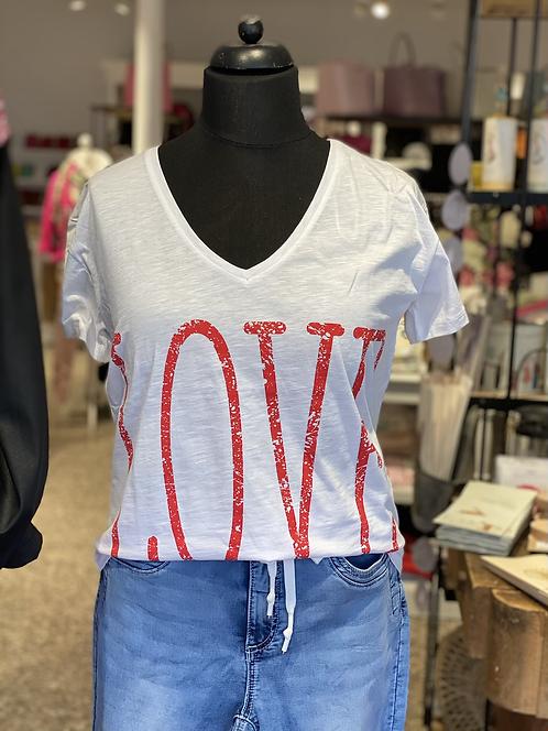 """Geisha - Schönes T-Shirt mit Aufdruck """"Love"""""""