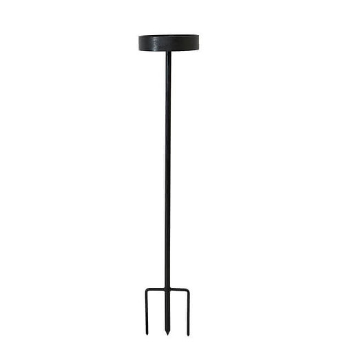 Kerzenhalter mit Erdspieß für Outdoor-Kerzen - 70 cm (kein Versand)