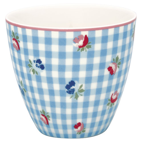 GreenGate - Latte Cup - Viola Check Pale Blue