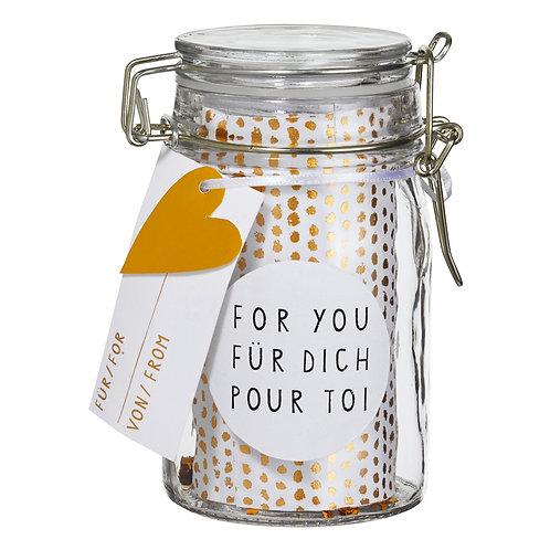 """RÄDER - Geschenkglas """"For you"""""""