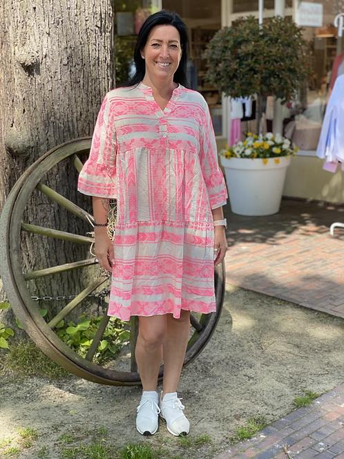 Tolles Sommerkleid mit Muster in Neonfarben - Pink/Rosa