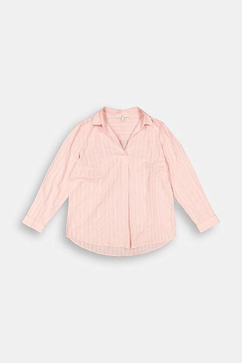 SALE Esprit Curvy - Bluse aus organischer Baumwolle - Rosa