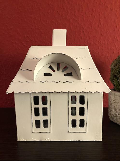 Haus mit Walmdach - Zink/Weiß