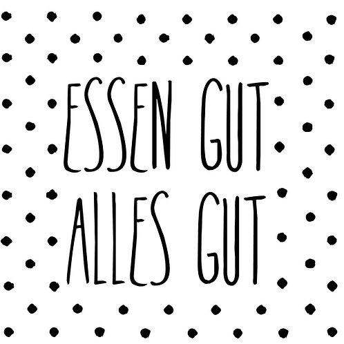 """RÄDER - Servietten """"Essen gut, alles gut"""""""