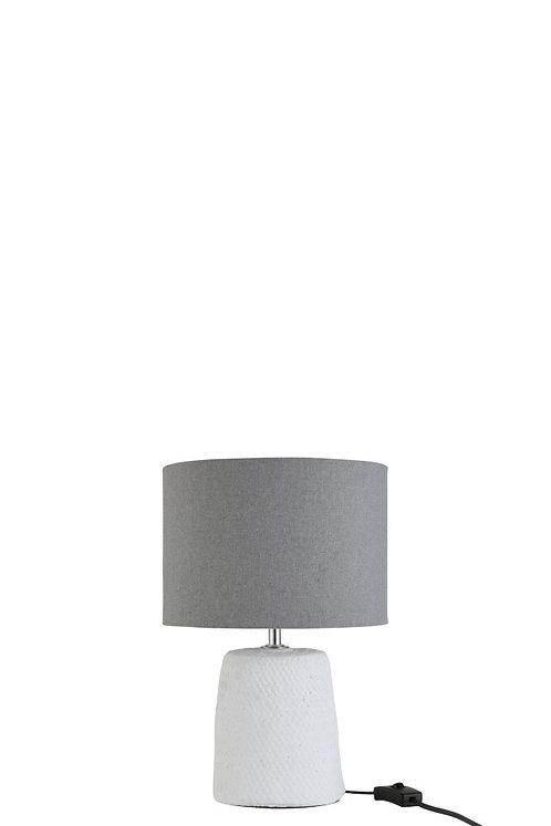 Lampe mit Fuß in Betonoptik weiß/grau