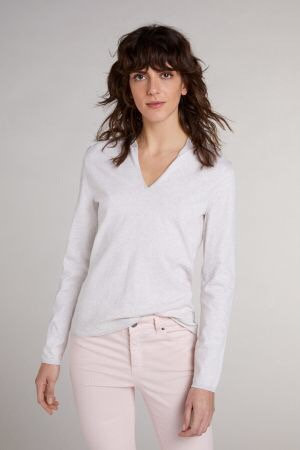Oui - Pullover mit Lurexdetails