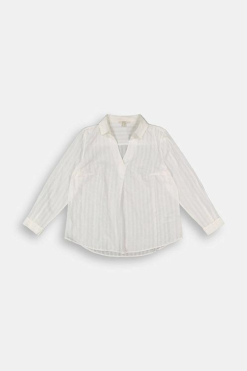 Esprit Curvy - Bluse aus organischer Baumwolle - Offwhite