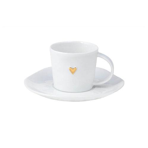 "RÄDER Espressotasse  ""Goldenes Herz"""