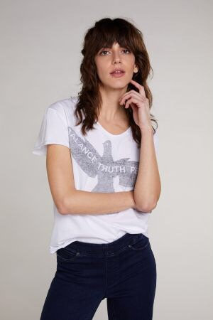Oui - T-Shirt mit Friedenstaube