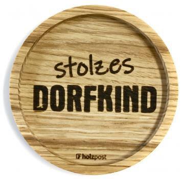 Holzpost - Untersetzer aus Eichenholz - Dorfkind