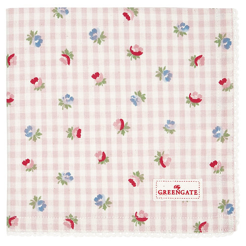 GreenGate - Stoffserviette - Viola Check Pale Pink