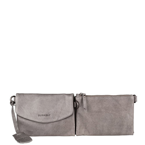 "Tasche ""Just Jackie Multiway Hipbag"" von Burkely - Leder / Farbe Grau"