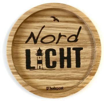 Holzpost - Untersetzer aus Eichenholz - Nordlicht