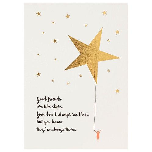 "Postkarte von Räder ""Good friends are like stars…"""