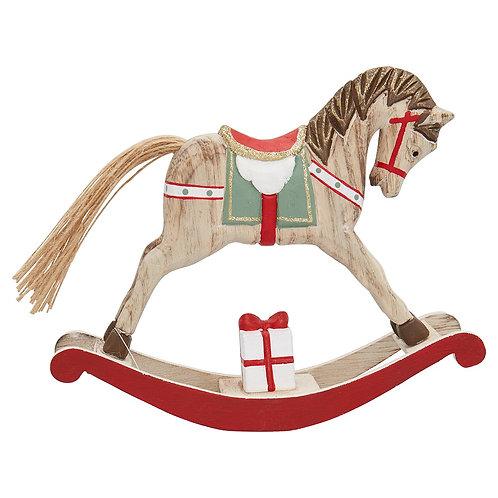 Greengate Weihnachtsdekoration Schaukelpferd - Rocking Horse Red Large